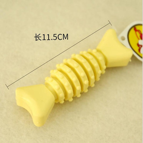 1pcs Pet Dog Chew cum Squeaky Rubber Vocal Molar Nipple Ball for Cat Puppy Baby Dogs Training - doggiebox Australia