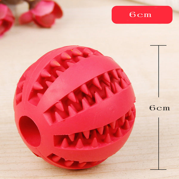 Interactive Elasticity Dog Chew Tooth Clean Ball Of Food Extra-tough Rubber - doggiebox Australia