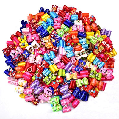 20PCS pet Bows Dog Hair Bows Grooming Bows Rubber Bands - doggiebox Australia