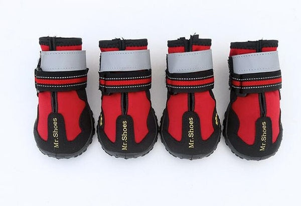 PVC Soles Waterproof Reflective Sports Boots Mountain Wearable Shoes for Dog - doggiebox Australia
