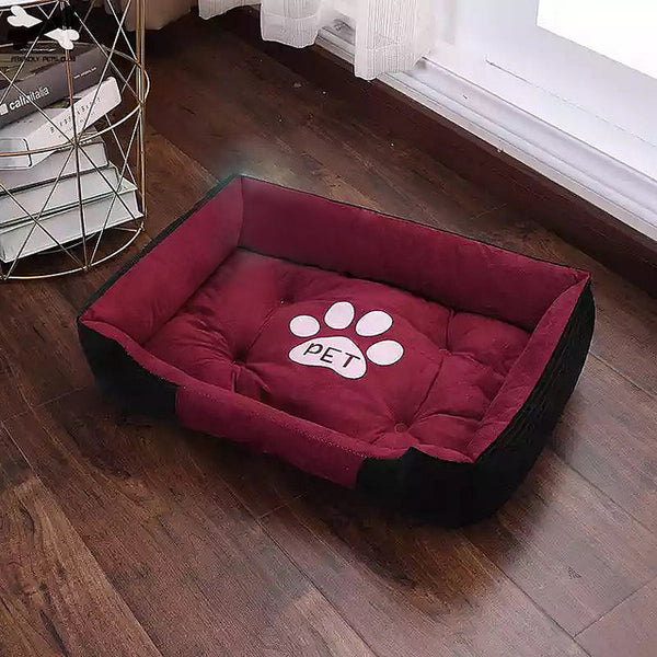 Paw Print Waterproof Nest Warm Four Seasons linen bed - doggiebox Australia