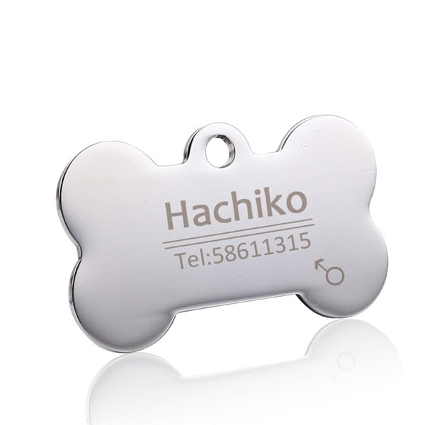 Engraving Pet ID Dog Tags Collars stainless steel - doggiebox Australia