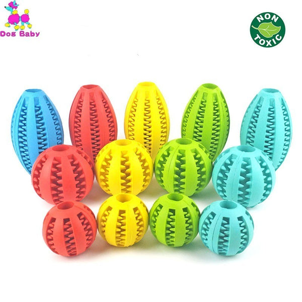 5/7/11cm Extra-tough Rubber Interactive Elasticity Ball for Dog Chew Tooth Cleaning - doggiebox Australia