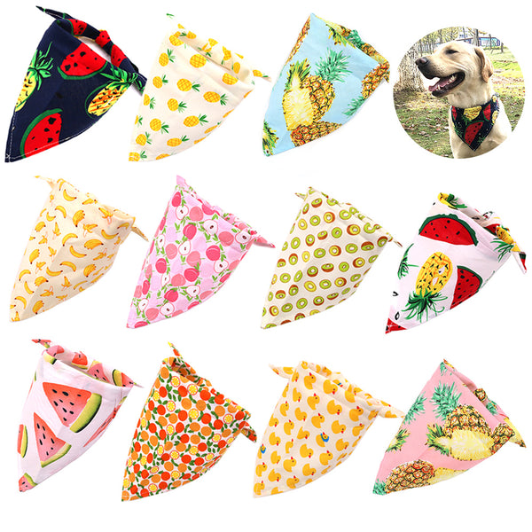 Adjustable Fruit Print Cotton Scarf for Pet Dog Grooming - doggiebox Australia