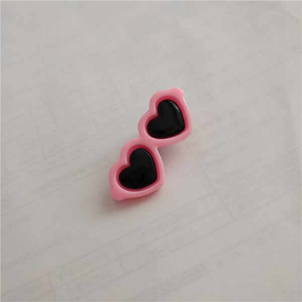 Lovely 1pc Heart Sunglasses Hairpins Pet Dog Bows Hair Clips Yorkie Teddy Hair Decor - doggiebox Australia