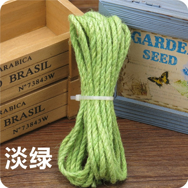 10 Meter Colorful Sisal Rope of 5mm diameter Tree Cat Toy - doggiebox Australia