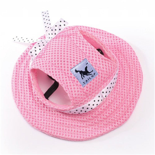 Lovely Sun Hat Summer Princess Cap With Ear Holes For Small Dogs Chihuahua Yorkie Pet Puppy - doggiebox Australia
