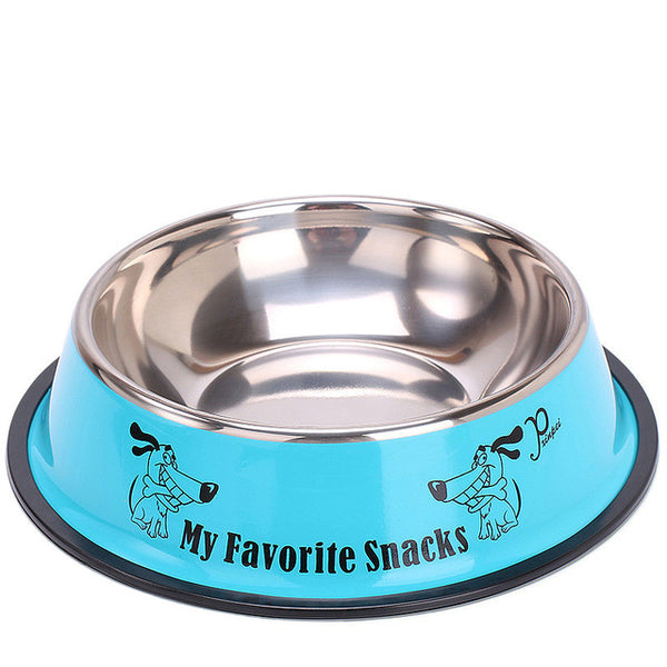 Cartoon Pattern Anti Skid Stainless Steel Feeder Drinking Water Bowl for Puppy Cat Dog - doggiebox Australia