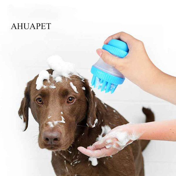 Head Spray Dog Shampoo Bath Massage Brush for SPA Multifunction Silicone - doggiebox Australia