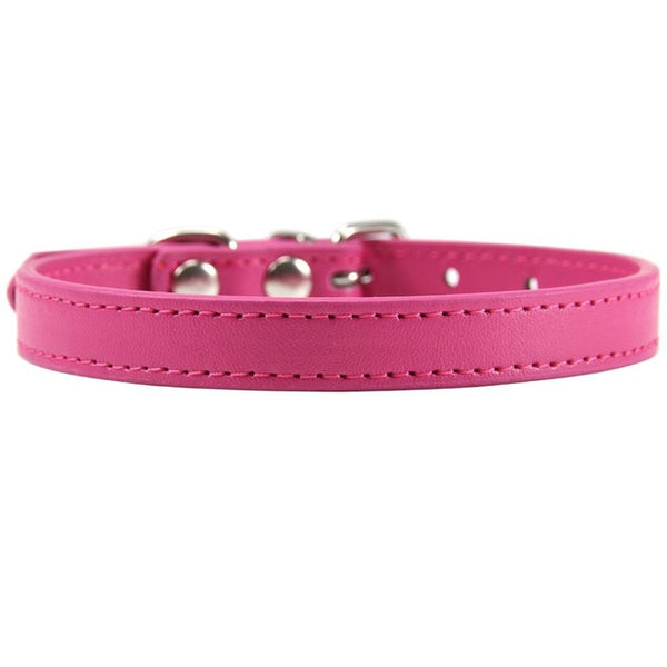 Pink leather XS S M L XL personalized safety name chihuahua necklace Small cat leash harness collar - doggiebox Australia