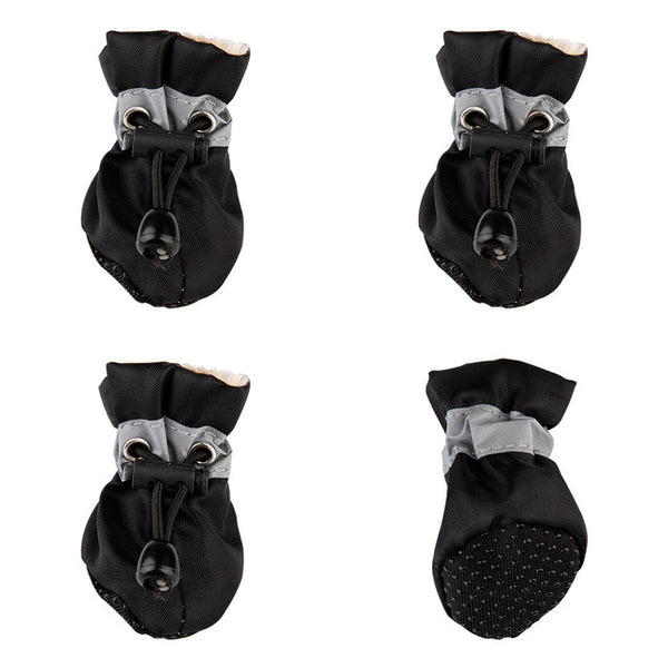 4pcs Waterproof Anti-slip Rain Snow Thick Warm Pet Dog Shoes Boots Footwear Socks Booties - doggiebox Australia