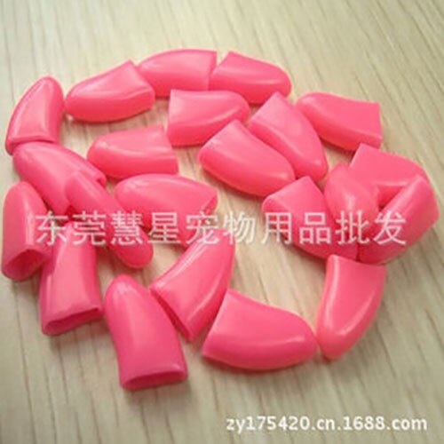 Colorful Rubber Soft 20 Pcs/Pack Dogs Cats Kitten Paw Control Claws Nail Caps Cover To Protect - doggiebox Australia
