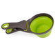 New Measuring Cup Collapsible Pet Cat Dog Food Feeding Scoop Spoon