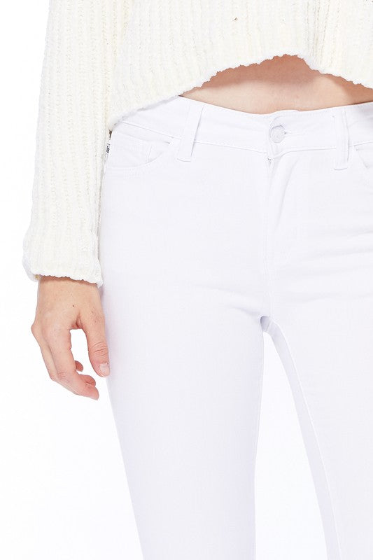 Judy Blue WHITE Mid-Rise Skinny Jeans - REGULAR & CURVY   *RESTOCKED*