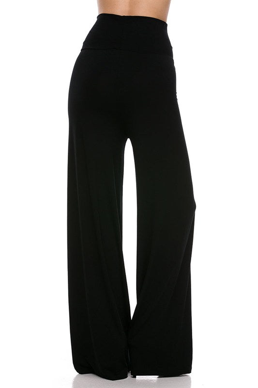 ** RESTOCKED **  Black Palazzo Pants - Regular & Curvy