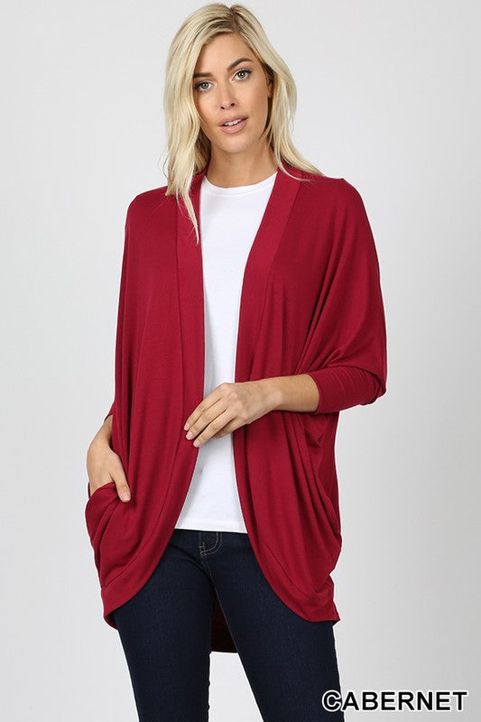 Slouchy Cocoon Wrap Open Cardigan