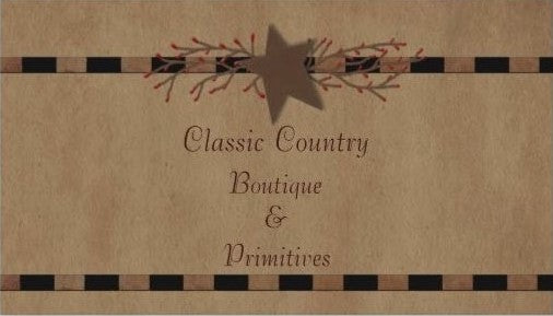 Classic Country Boutique & Primitives Instant Issue Gift Card