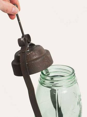 Half Gallon Mason Jar Butler Lantern Farmhouse Rustic Primitive Candle