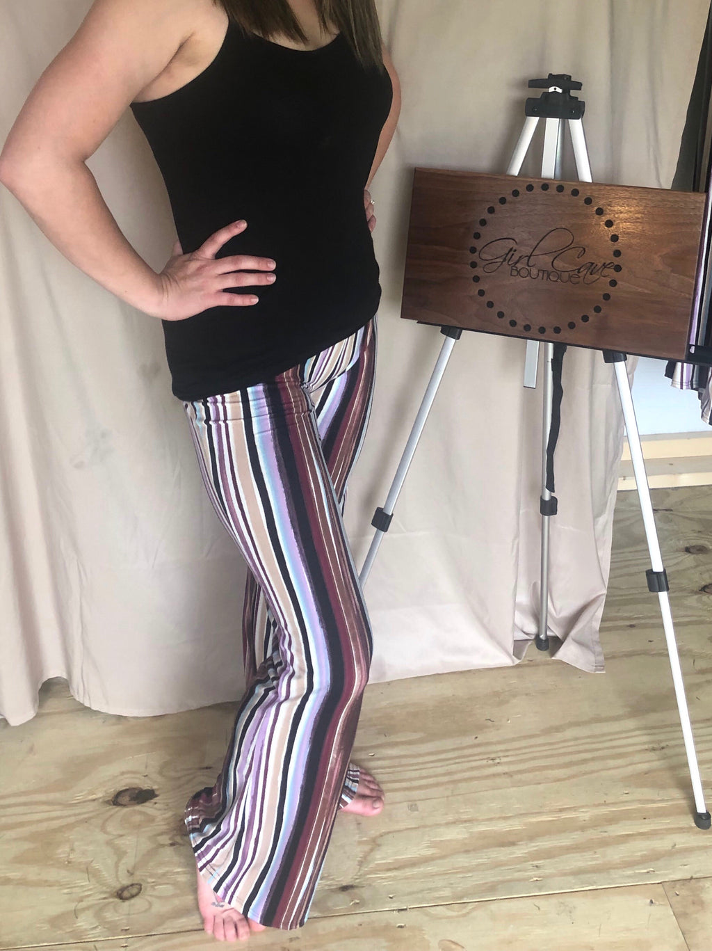 Buttery Soft Striped Palozzo Pants