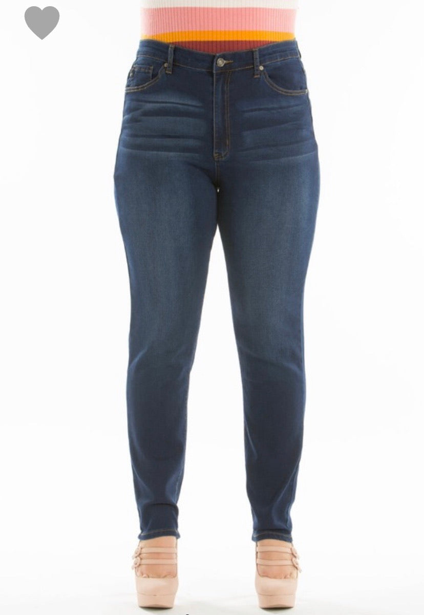 Kan Can High Rise Super Skinny Jeans - CURVY