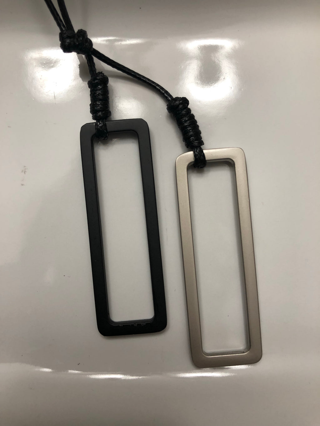 Vintage Double Rectangle Pendant Necklace