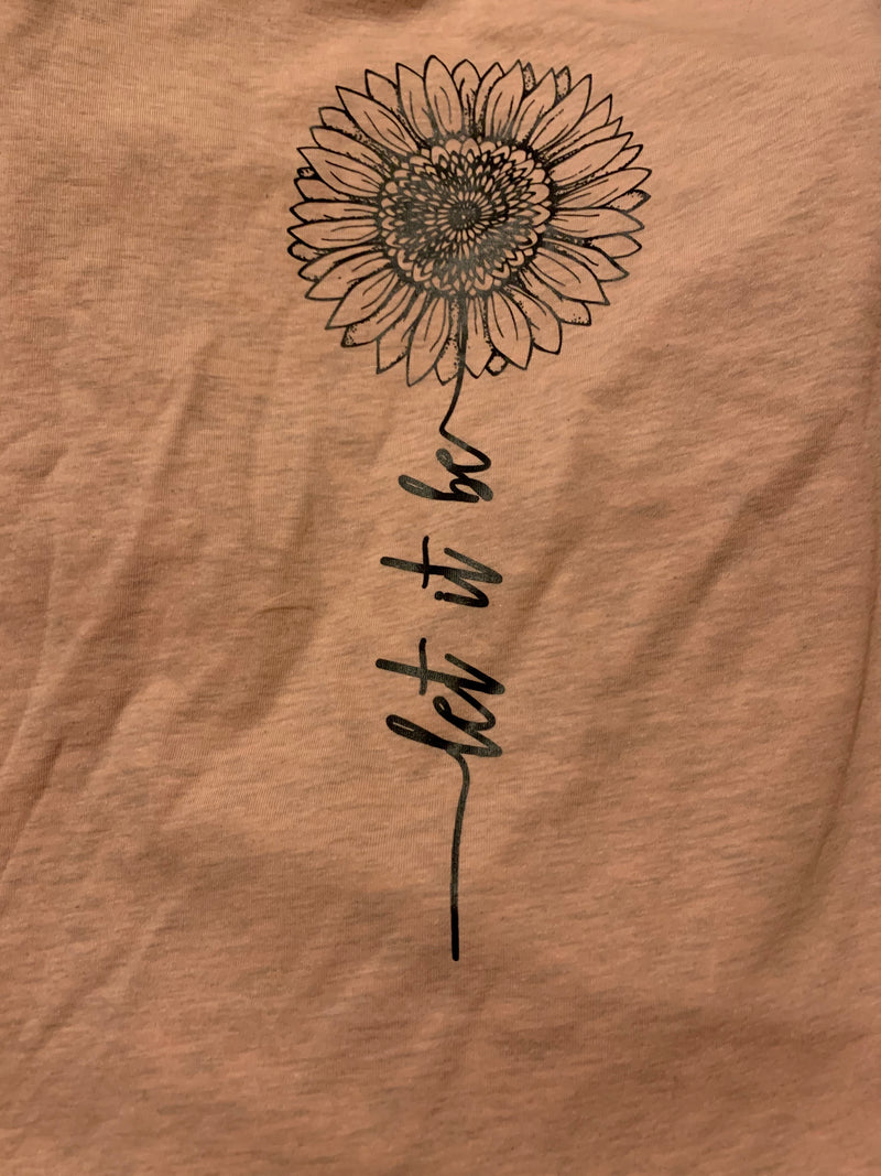 """Let It Be"" Graphic Tee Shirt - Womens and Curvy"