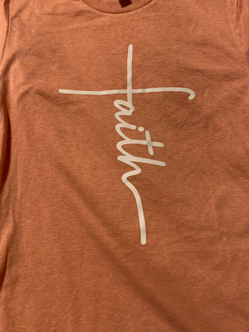 "Adorable ""Faith"" Graphic Tee - Womens and Curvy"