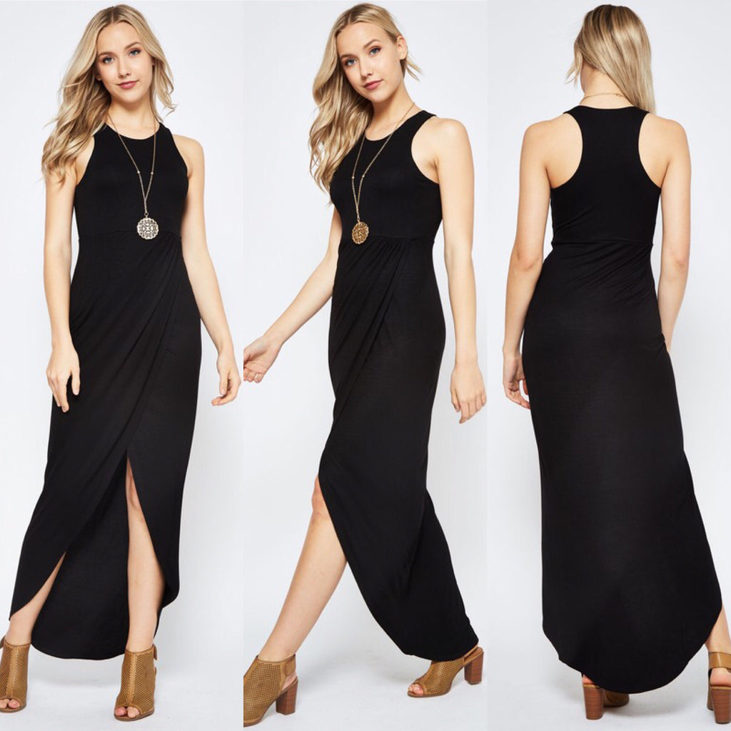 Black Tank Maxi Dress - REGULAR & CURVY