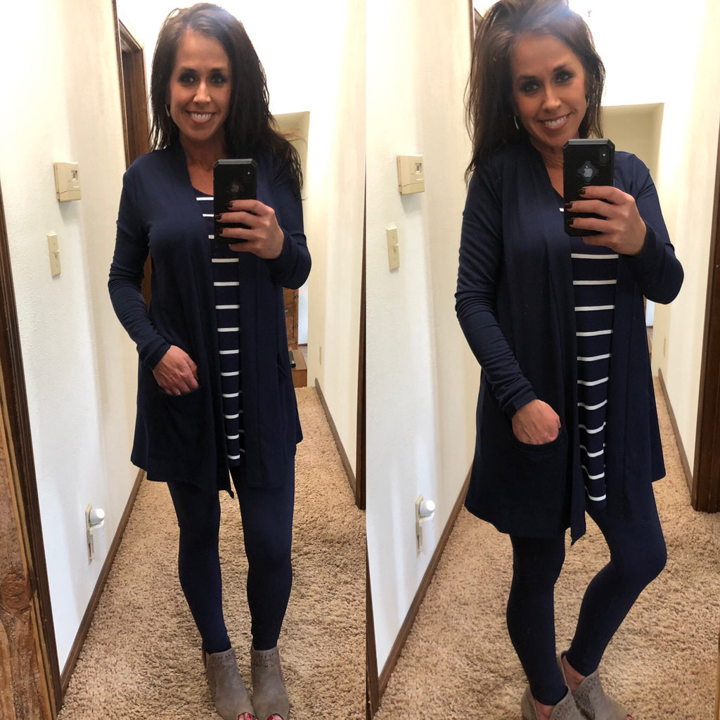 Lightweight Cardigan - Navy - Regular & Curvy