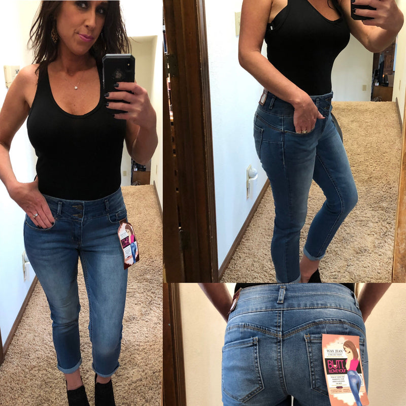 "Skinny Capri ""Contoured Curve"" Jeans - READ SIZING INFO"