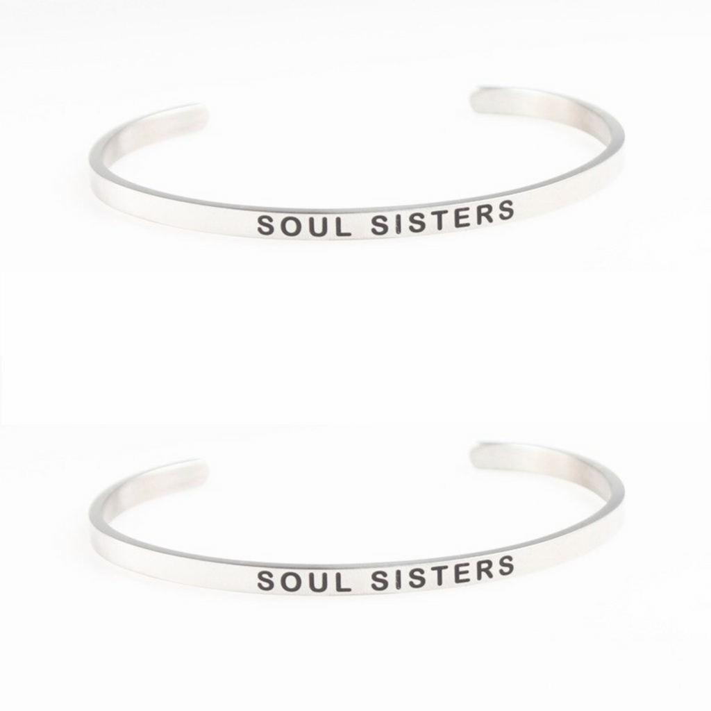 """SOUL SISTERS"" Mantra Bangle Bracelet SET"