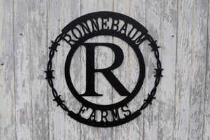 Barbed Wire Circle Monogram