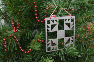 Bear Claw Quilt Christmas Ornament