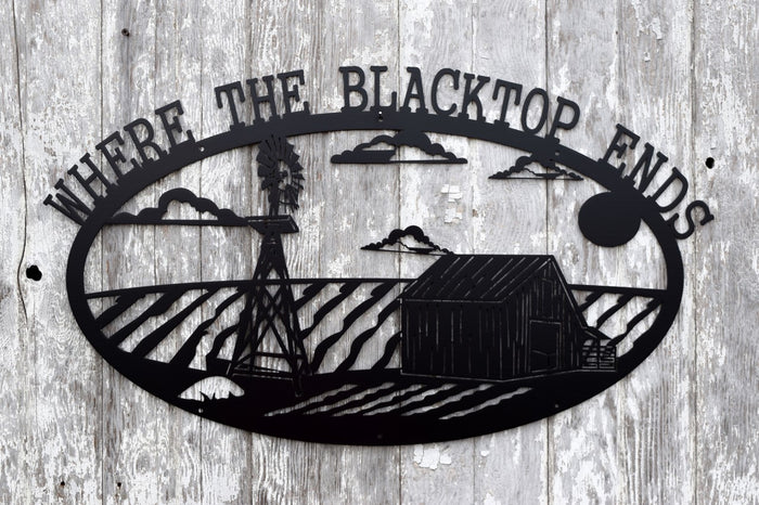 Blacktop Ends Farm Scene