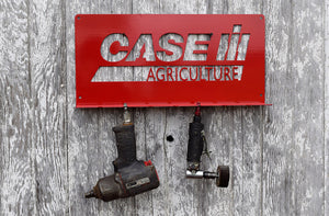 Red Air Tool holder with Case IH Agriculture emblem & 7 slots for tools
