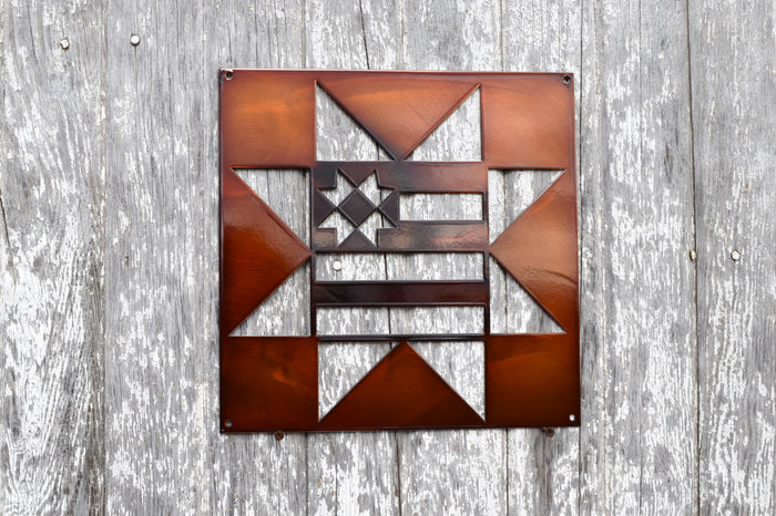 Country Star Flag Quilt Block