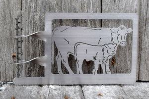 Cow Calf Pair Rain Gauge