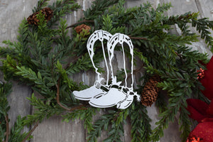 Cowboy Boots Christmas Ornament