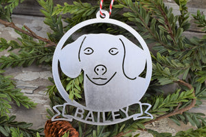 Dachshund Dog Name Ornament
