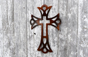 Double Cross Metal Art