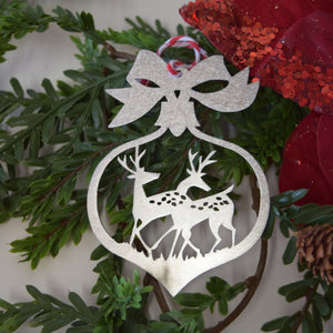 Double Deer Christmas Ornament