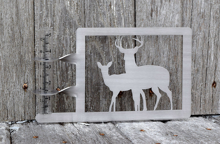 Double Deer Rain Gauge