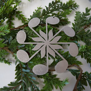 Eighth Note Snowflake Christmas Ornament