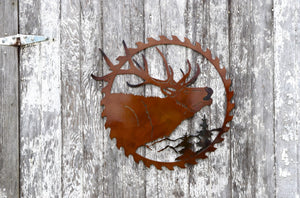 Elk Saw Blade Metal Art