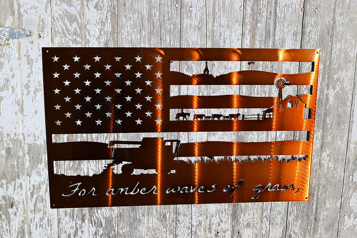 Farm Flag Metal Art