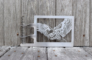 flying eagle rain gauge holder made from stainless steel