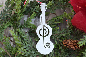 Guitar Treble Clef Ornament