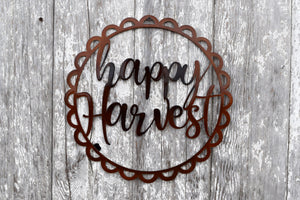 Happy Harvest Scallop Wreath