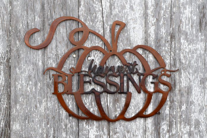 Harvest Pumpkin Blessings Wall Decor