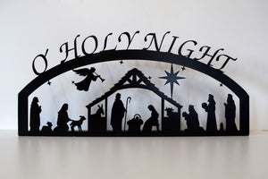 O' Holy Night Metal Nativity Scene